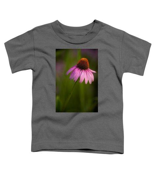 Purple Cone Flower Portrait Toddler T-Shirt
