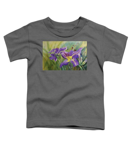 Purple Day Lily Toddler T-Shirt