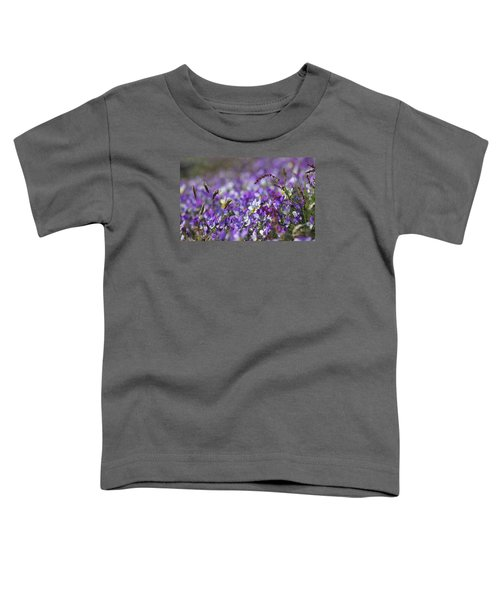 Purple Flower Bed Toddler T-Shirt