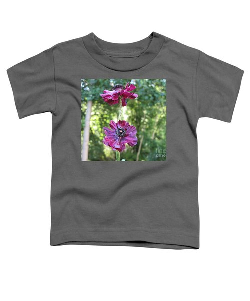 Purple Flowers Toddler T-Shirt