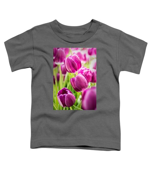 Purple Tulip Garden Toddler T-Shirt