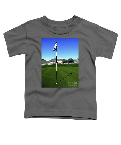 Putting Green And Flag On Golf Course Toddler T-Shirt