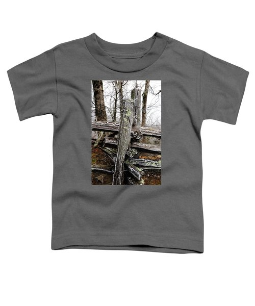 Rail Fence With Ice Toddler T-Shirt
