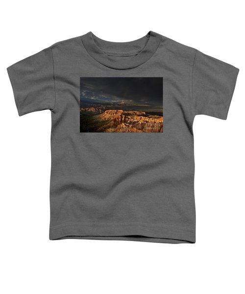 Rainbow And Thunderstorm Over The Paunsaugunt Plateau  Toddler T-Shirt