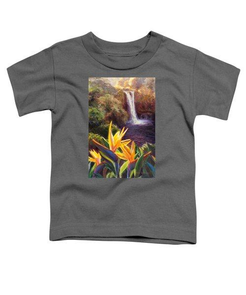 Rainbow Falls Big Island Hawaii Waterfall  Toddler T-Shirt