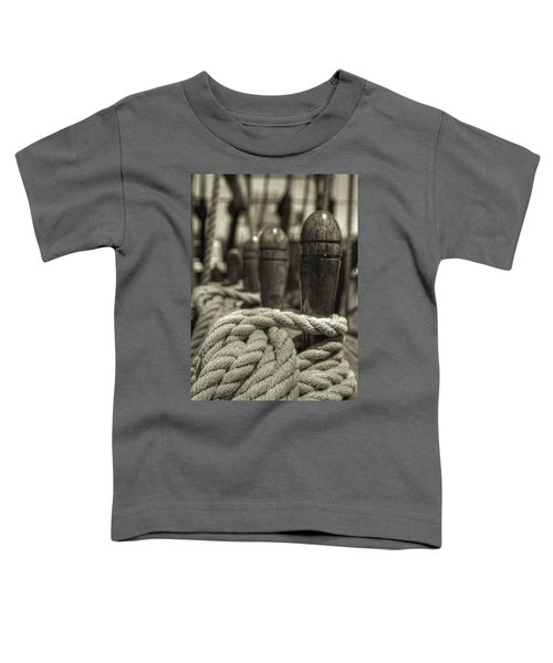 Ready For Work Black And White Sepia Toddler T-Shirt
