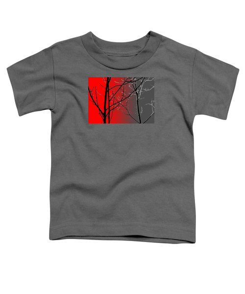 Red And Gray Toddler T-Shirt
