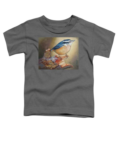Red-breasted Nuthatch Bird Toddler T-Shirt