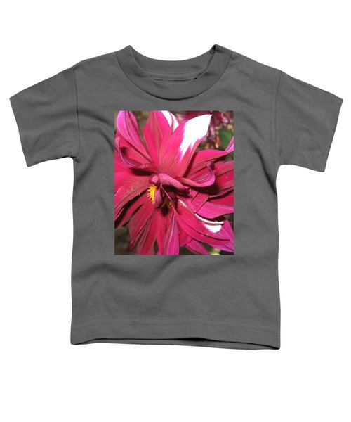 Red Flower In Bloom Toddler T-Shirt