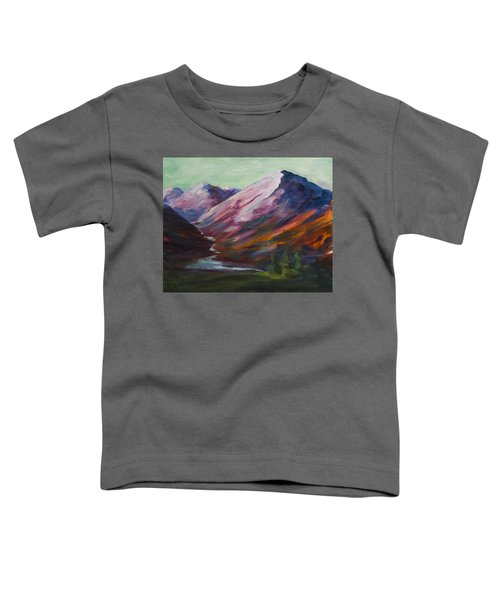 Red Mountain Surreal Mountain Lanscape Toddler T-Shirt