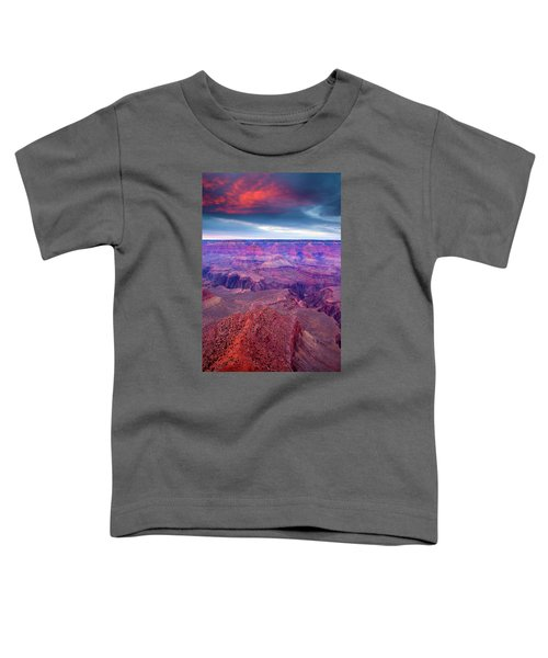 Red Rock Dusk Toddler T-Shirt by Mike  Dawson