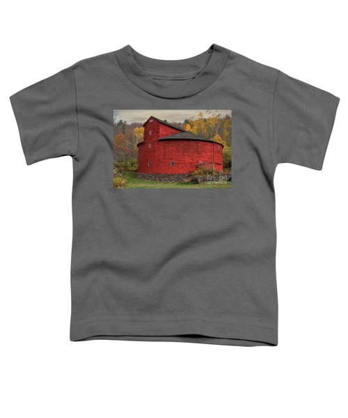 Red Round Barn Toddler T-Shirt
