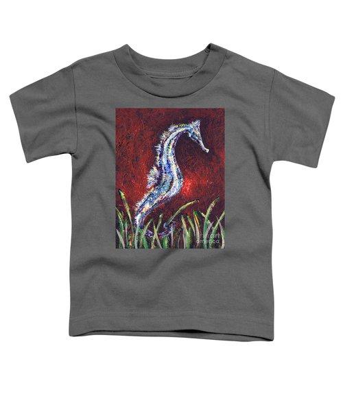 Red Seahorse Toddler T-Shirt