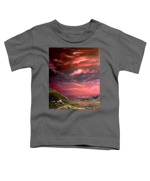 Red Sky At Night Toddler T-Shirt by Jean Walker