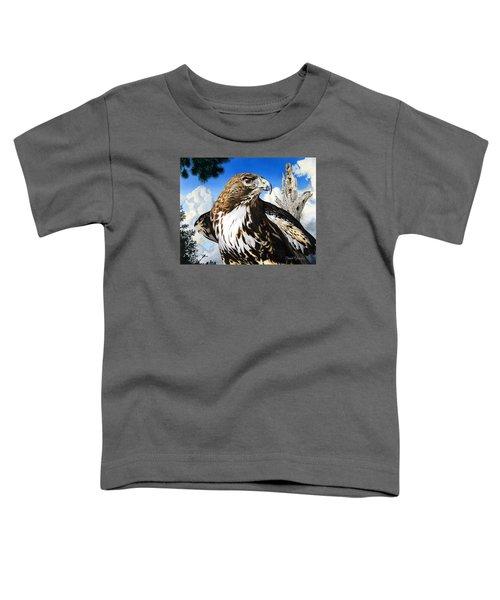 Da141 Red Tailed Hawk By Daniel Adams Toddler T-Shirt