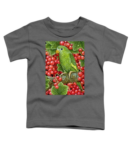 Redcurrant Parakeet Toddler T-Shirt by Ditz