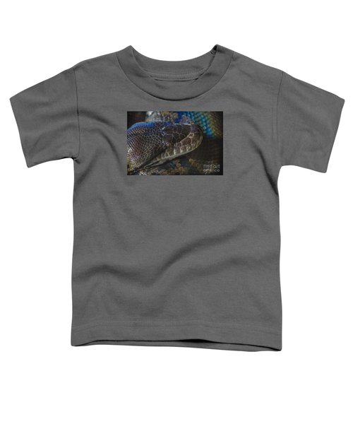 Reticulated Python With Rainbow Scales Toddler T-Shirt
