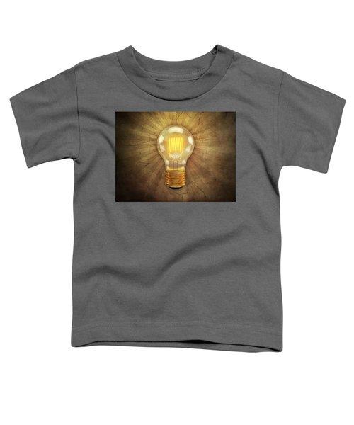 Retro Light Bulb Toddler T-Shirt