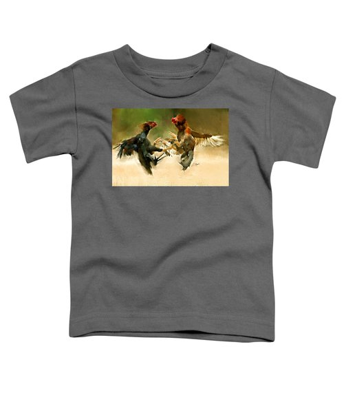 Rooster Fight Hd Toddler T-Shirt