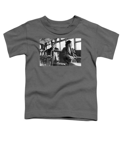 Rosa Parks On Bus Toddler T-Shirt