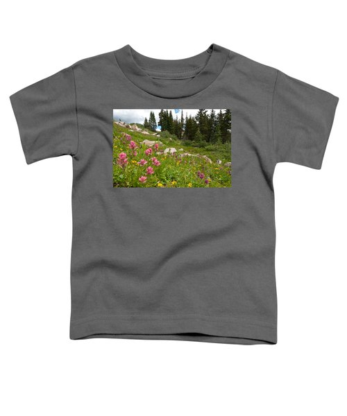Rosy Paintbrush And Trees Toddler T-Shirt