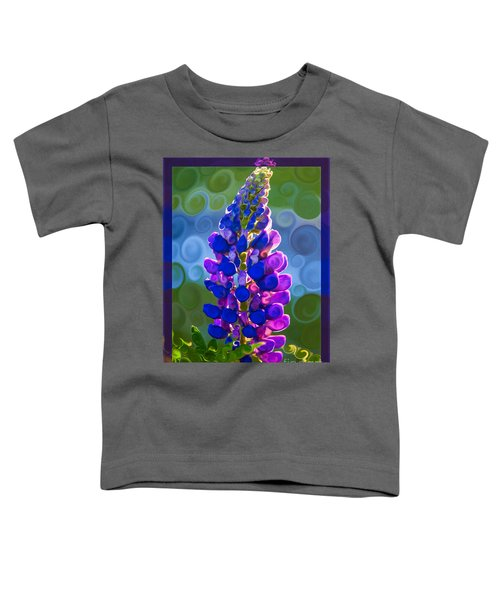 Royal Purple Lupine Flower Abstract Art Toddler T-Shirt