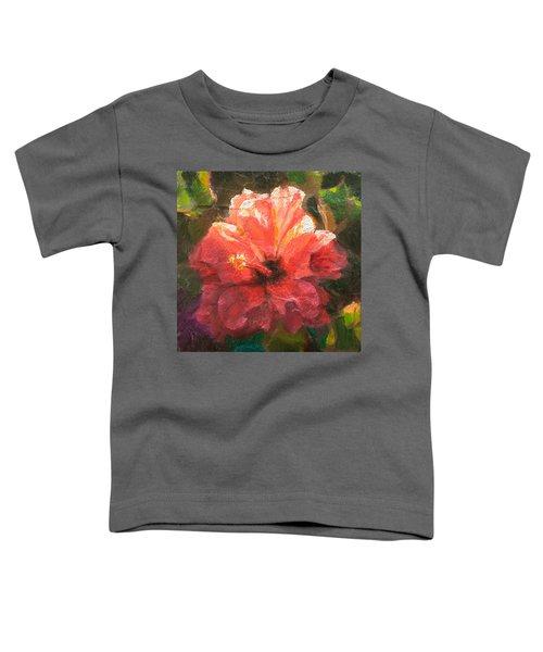 Ruffled Light Double Hibiscus Flower Toddler T-Shirt
