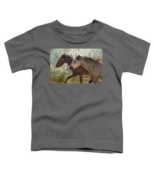 Running Free - Pryor Mustangs Toddler T-Shirt