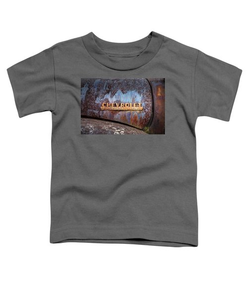 Rusty Chevrolet - Nameplate - Old Chevy Sign Toddler T-Shirt