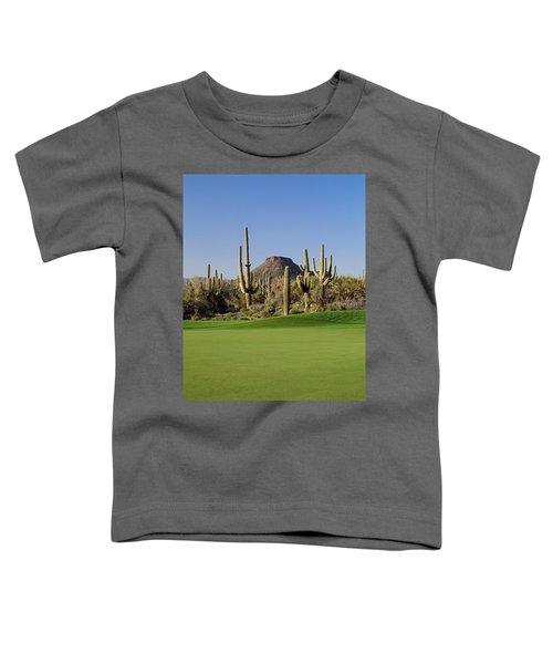 Saguaro Cacti In A Golf Course, Troon Toddler T-Shirt