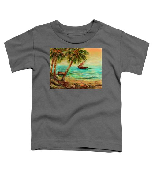 Sail Boats On Indian Ocean  Toddler T-Shirt