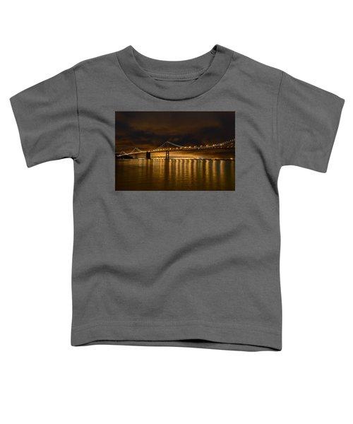 San Francisco - Bay Bridge At Night Toddler T-Shirt