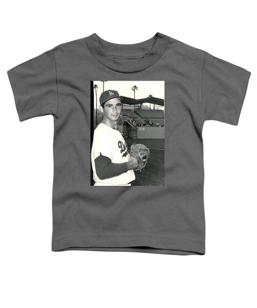 Sandy Koufax Photo Portrait Toddler T-Shirt