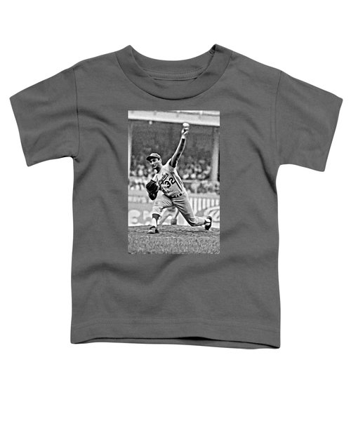 Sandy Koufax Throwing The Ball Toddler T-Shirt