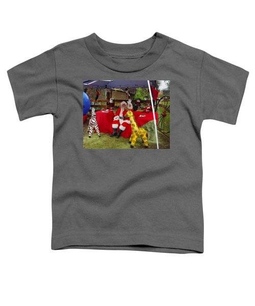 Santa Clausewith The Animals Toddler T-Shirt
