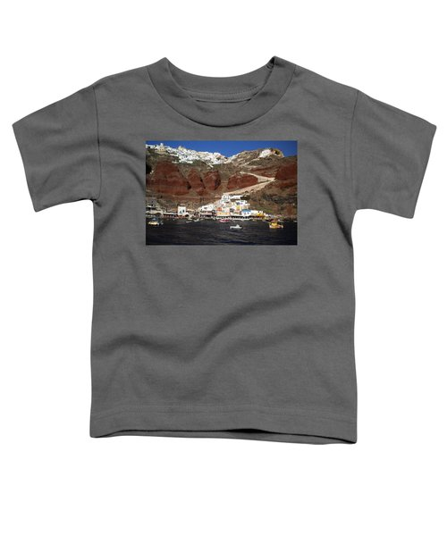 Santorini  Island  View To Oia Greece Toddler T-Shirt