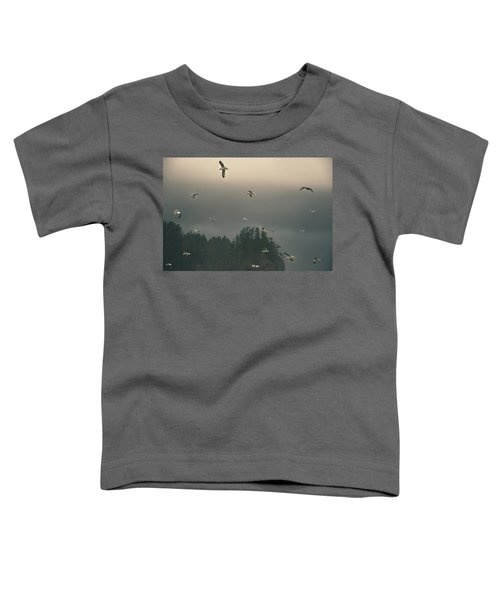 Seagulls In A Storm Toddler T-Shirt