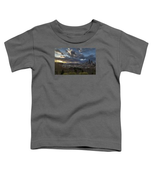 Seattle Dramatic Dusk Toddler T-Shirt by Mike Reid