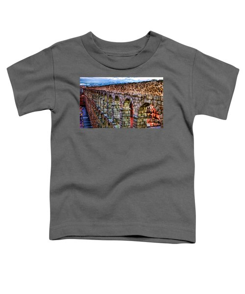 Segovia Aqueduct Spain By Diana Sainz Toddler T-Shirt
