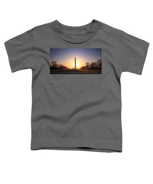 Setting Sun On Washington Monument Toddler T-Shirt