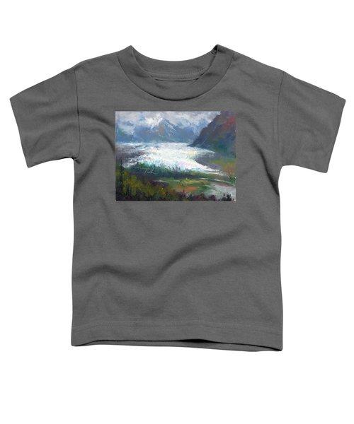 Shifting Light - Matanuska Glacier Toddler T-Shirt