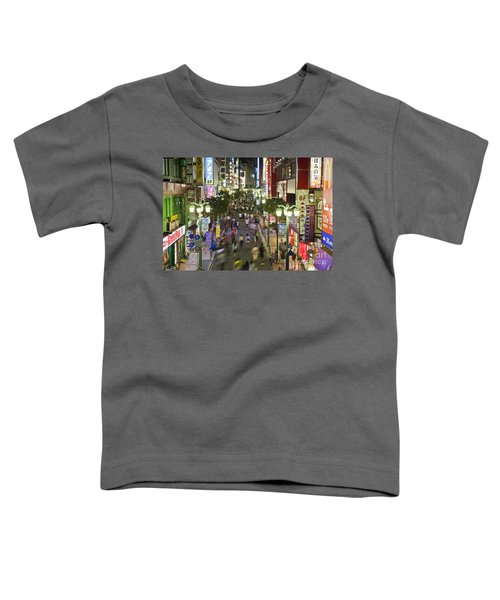 Shinjuku Street Scene At Night Toddler T-Shirt