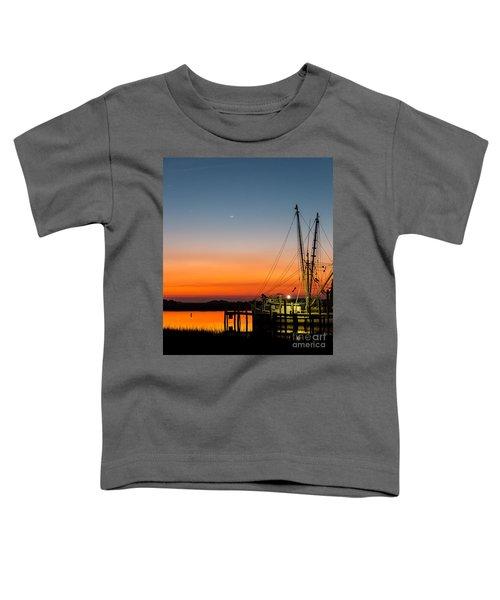 Shrimp Boat At Dusk Folly Beach Toddler T-Shirt