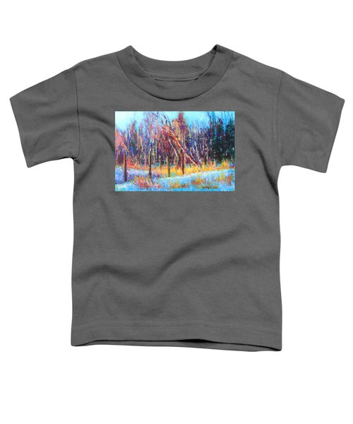 Signs Of Spring - Trees And Snow Kissed By Spring Light Toddler T-Shirt
