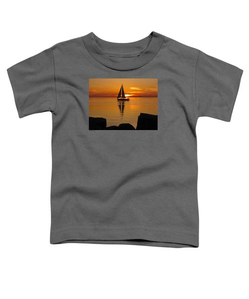 Sister Bay Sunset Sail 2 Toddler T-Shirt