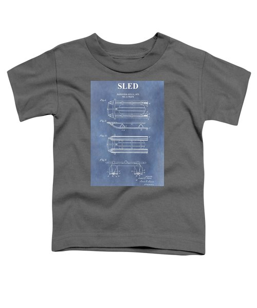Sled Patent Blue Toddler T-Shirt