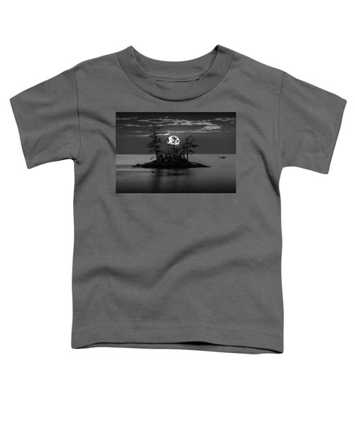Small Island At Sunset In Black And White Toddler T-Shirt