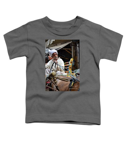 Smiling Man Drives Horse Carriage In Lahore Pakistan Toddler T-Shirt