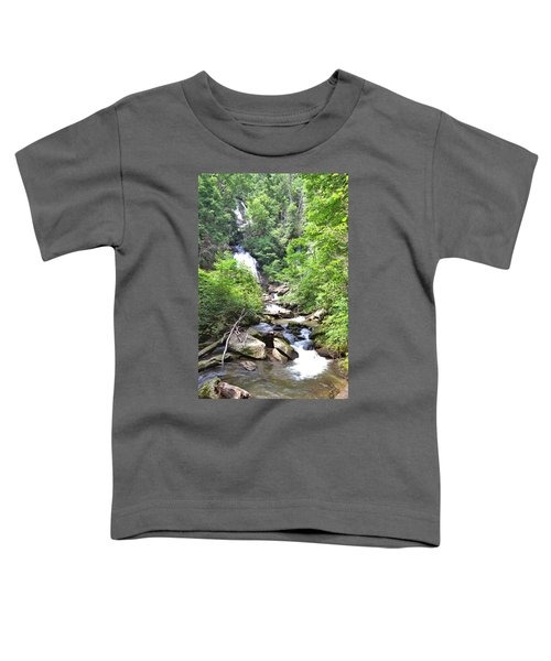 Smith Creek Downstream Of Anna Ruby Falls - 3 Toddler T-Shirt