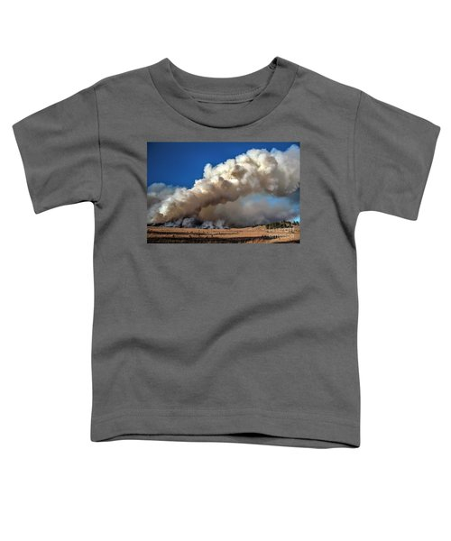 Smoke Column From The Norbeck Prescribed Fire. Toddler T-Shirt